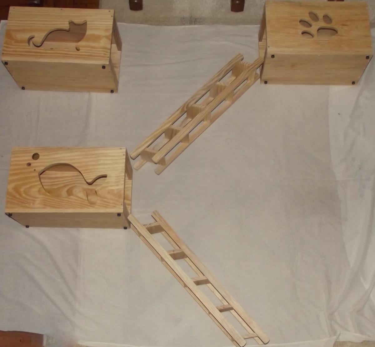 Nicho 4 Prateleiras (12 X 15) E Escada De Madeira P/ Gatos R$ 330  #3C1E12 1200x1111