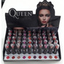 Caixa 50 Batons Queen Fashion Matte Batom Fosco +10 Amostras