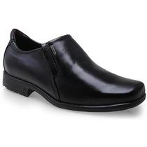 Sapato Social Pegada Masculino Preto Couro Legítimo 22101