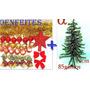 Árvore Natal Verde Nevada Pinheiro 90cm 85g+50enfeites.alfa