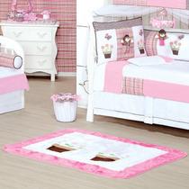 Tapete Para Quarto De Bebê Menina Rosa Patricinha 1 Peça Hb