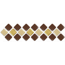 Pastilhas Adesivas, Diagonal, 3 Cores, Cozinha, Banheiro