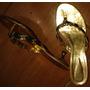 Sandália Dourada Dunes Nº 37 ¿ Cód Cl168