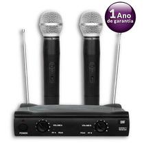 Microfone Duplo Uhf Sem Fio Profissional Promusic Igua Shure