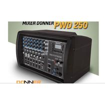 Mixer Amplificado Donner Pwd 250 W 7 Canais Fm Usb Bluetooth