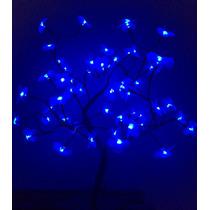 Árvore Natal Decorativa Led Flor Azul Alt 60 Cm S/pisca