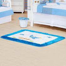 Tapete Para Quarto De Bebê Menino Azul Mauricinho 1 Peça Hb