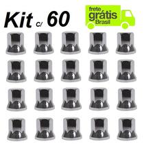 Capa Porca Roda Cromada Caminhão (kit C/ 60 Unid Frete Pago)