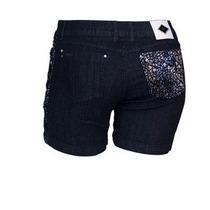 Lindo Shorts Bermuda Jeans Meia Coxa Feminina Plus Size