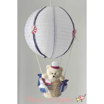 Luminária Lustre Balão Quarto Bebê Infantil -urso Marinheiro