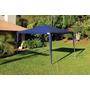 Barraca/tenda 3x3 Praia/camping Gazebo Belfix Branca/azul