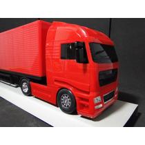 Caminhão Carreta 02 Eixos Bau Comp. 67cm Larg=11cm A=17cm