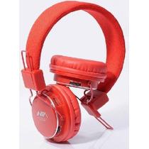 Fone Ouvido Stereo Sem Fio Nia Mrh-8809 Fm Micro Sd Pc Mp3