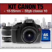 T5 Canon Rebel Eos T5 1200d + 18~55mm Is 2 + 32gb Clas 10