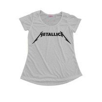 Camisetas Personalizadas Blusas Femininas T-shirt Metallica