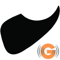 Escudo Violão Preto Plástico Rigido Autocolante O F E R T A