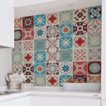 Adesivo Azulejo Cozinha 20x20 Lavável Colorido Lourdes 24un