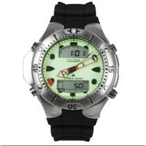 Relógio Citizen Aqualand Jp1060 Fundo Verde Bj2040