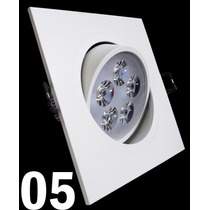 Kit 5 Spot Led Branco Luz Fria 5w Teto Sanca Gesso
