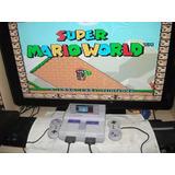 Super Nintendo + 2 Controles Originais + Mario World + Cabos