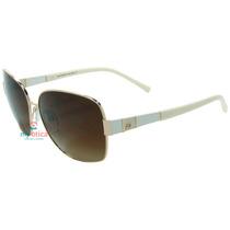 Óculos De Sol Ana Hickmann Ah3114 Dourado E Bege Original