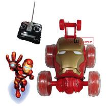 Carrinho Controle Remoto Homem De Ferro Brinquedo C/som Luz