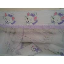 Kit Protetor De Berço Gatinha Marie - Com Nome Do Seu Bebê