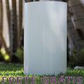 Vaso / Tubo De Vidro Brilhante Branco Home 30cm - Bu125
