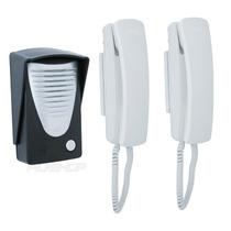 Kit Interfone Porteiro Eletrônico Com 2 Interfones Novo Rcg