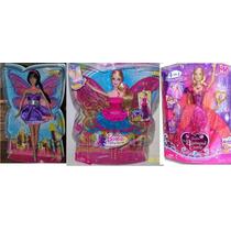 Barbie Castelo De Diamante Segredo De Fadas - 3 Bonecas