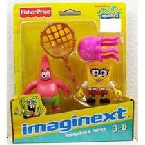 Imaginext Bob Esponja Figuras Lula E Siri - Mattel