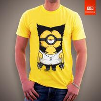 Camisetas De Filmes Desenhos Heróis Minions Wolwerine X-men