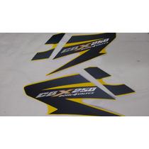 Adesivo Abas Protetores Tanque Cbx 250 Twister 2008 Amarelo