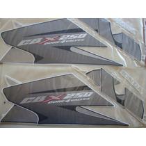 Jogo De Faixas Adesivo Honda Cbx 250 Twister Preto Ano 2007