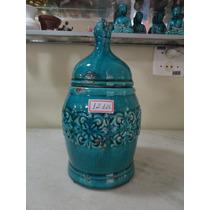 #12126 - Potiche Cerâmica Esmaltada, Italiana!!!