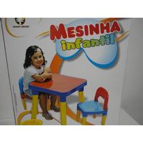 Mesa Infantil Desmontável -com 2 Cadeiras 18 Meses A 7 Anos