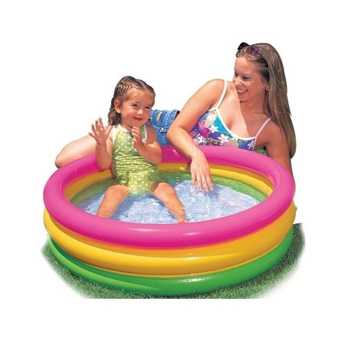 Piscina infl vel infantil baby colorida intex por do sol r for Baby k piscinas