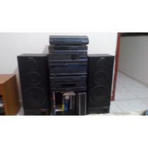Aparelho De Som Sony Com Toca Discos E Cd Carrossel
