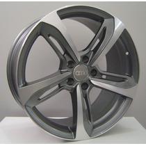 Jogo De Rodas Réplica Audi Rs7 19x8,5 Diamond Graphite