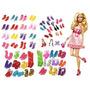 Lote Com 12 Pares De Sapatos Barbie