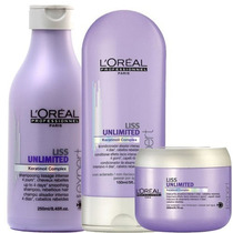 Kit Loreal Liss Unlimited Sh.250ml + Cond.150ml + Masc.200g