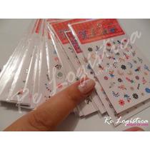 Adesivos De Unha +/- 800 Desenhos Em 16 Cartelas