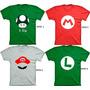 Camiseta Mario Bross 100% Algodao  30x1fios