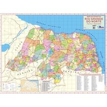 Mapa Geo Político E Rodoviário Do Estado Rio Grande Do Norte