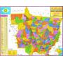Mapa Geo Político Rodoviário Gigante - Estado Do Mato Grosso