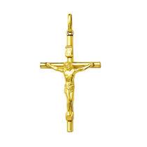 Crucifixo De Ouro 3 Cm 18k 750 Com Certificado