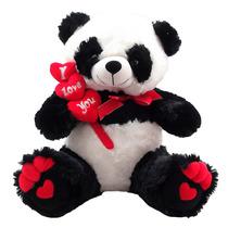 Urso Panda I Love You Gigante Namorados Médio Bicho Pelucia