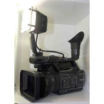Filmadora Sony Hdr-ax 2000+1mic+ 2bat+2 Sd 32gb+ Kit Luz Led
