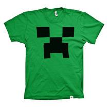 Camiseta Infantil Creeper Minecraft