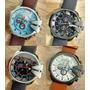 Relógio Est.diesel De Couro - Envio Grátis, Varios Modelos
